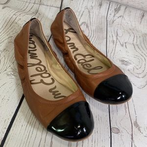 Sam Edelman Baxton 2 Tan Brown Black Ballet Flats